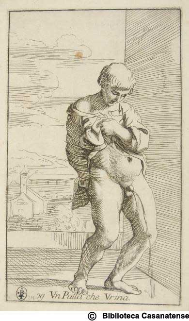 Un putto che urina, tav. 79
