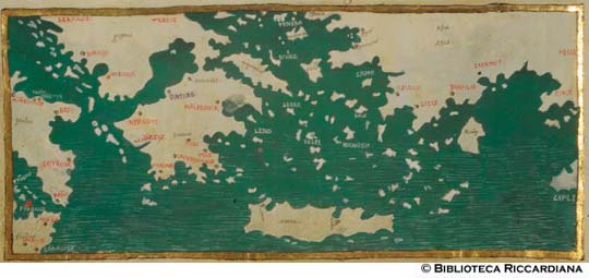 Cartina Geografica Mediterraneo Orientale.Data Bank Biblioteca Riccardiana Firenze